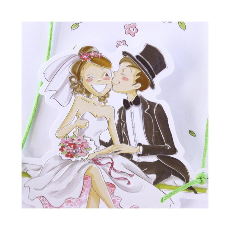 faire part mariage humoristique couple fleur faire part select tandem 49430 - Faire Part Humoristique Mariage