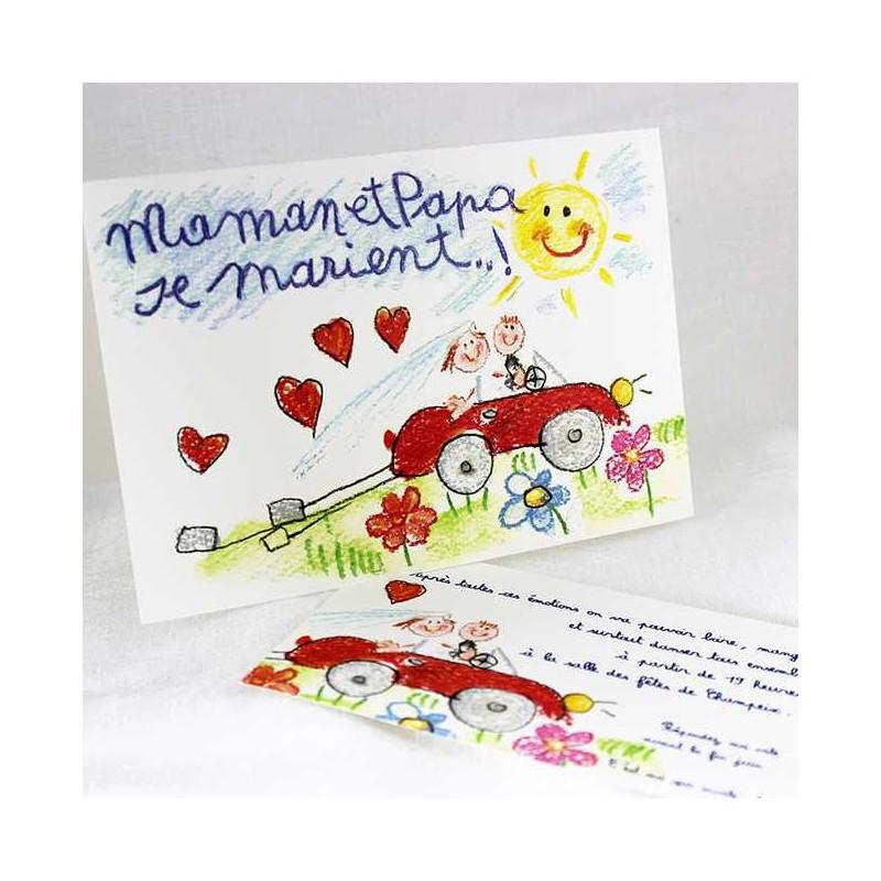 faire part mariage humoristique papa et maman se marient faire part select tandem 48758 - Faire Part Mariage Papa Et Maman Se Marient