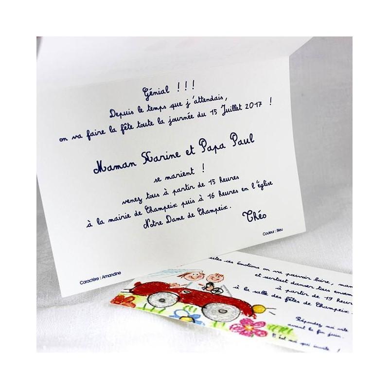 faire part mariage humoristique papa et maman se marient faire part select tandem 48758 - Texte Faire Part Mariage Humoristique