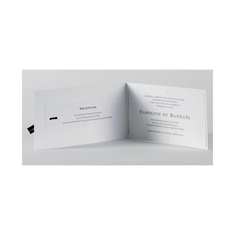 faire part de mariage vintage noir et blanc buromac papillons 01concept. Black Bedroom Furniture Sets. Home Design Ideas