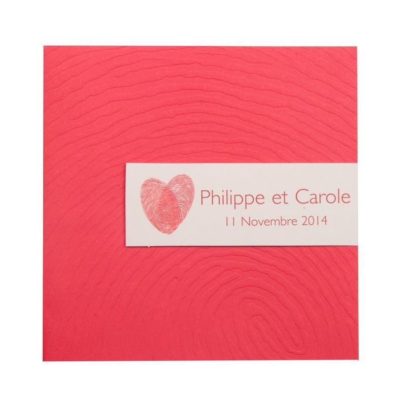 faire part de mariage fantaisie rouge busquet 01concept. Black Bedroom Furniture Sets. Home Design Ideas