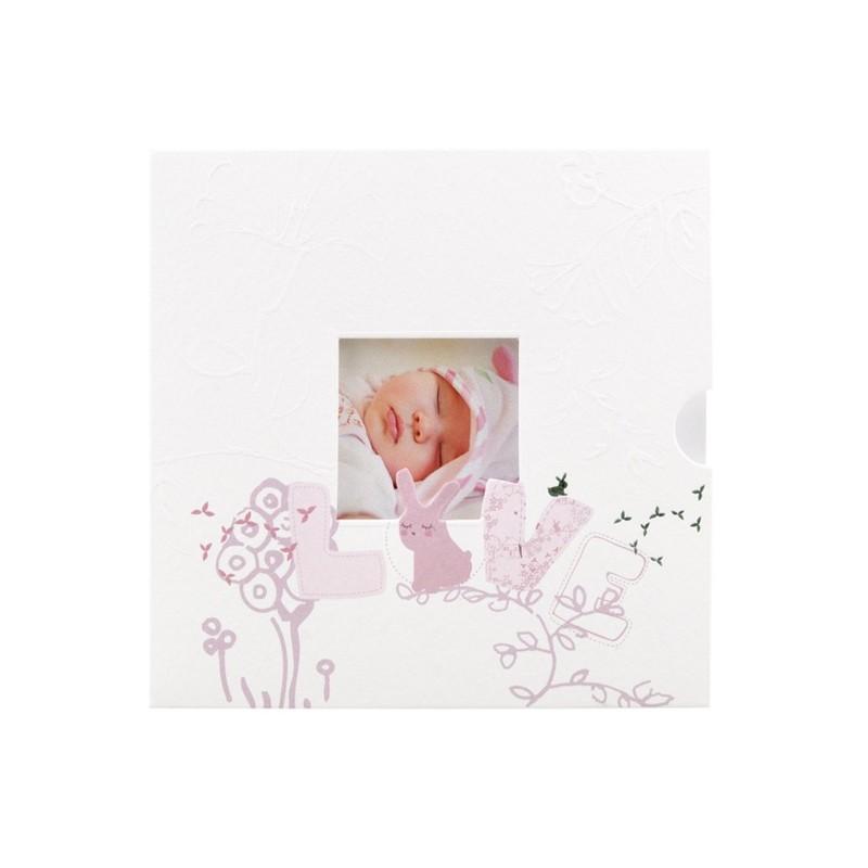 Faire part naissance chic blanc lapin parme regalb sucre d 39 orge csj4939 - Sucre d orge faire part ...