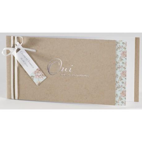 faire part mariage cologique fleur oui argenture buromac la vie en rose mesfairepart. Black Bedroom Furniture Sets. Home Design Ideas