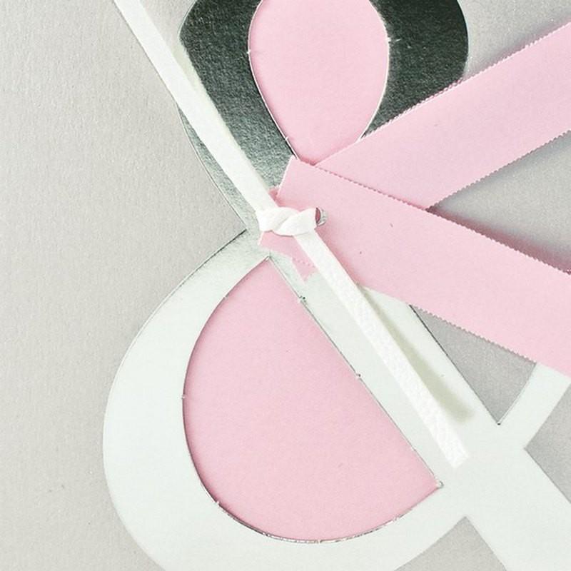 faire part de mariage chic rose gris iris dorure argent. Black Bedroom Furniture Sets. Home Design Ideas