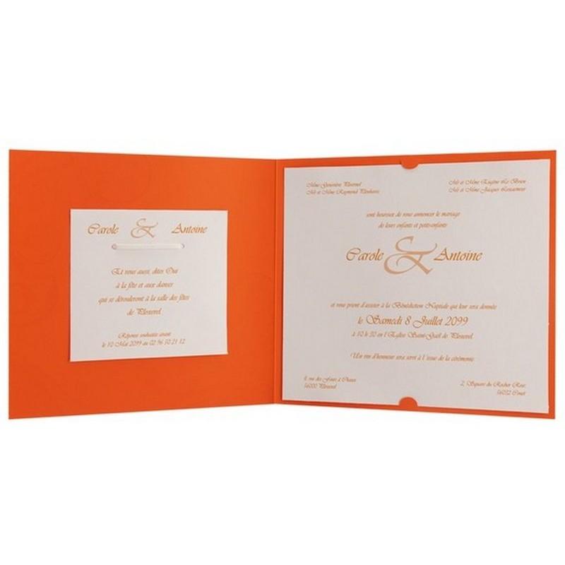 faire part mariage gay orange arabesque ruban regalb jx3257 - Faire Part Mariage Gay Humoristique