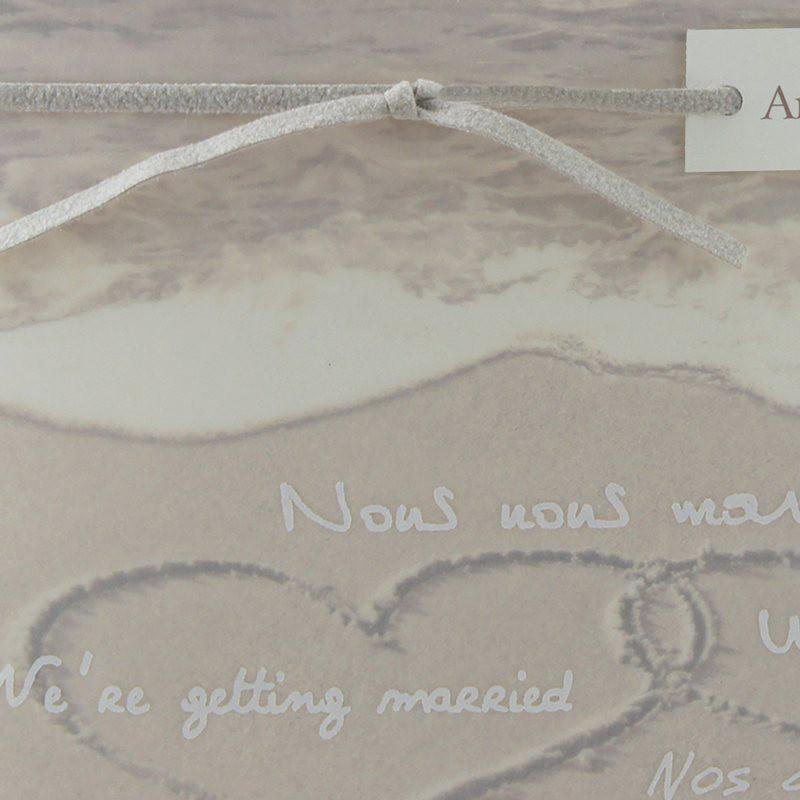 faire part mariage mer plage sable coeur calque regalb js3261 mesfairepart. Black Bedroom Furniture Sets. Home Design Ideas