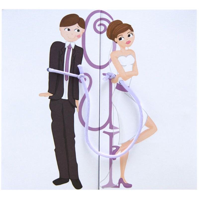 faire part mariage humoristique couple attach regalb jd3039 - Faire Part Mariage Humoristique