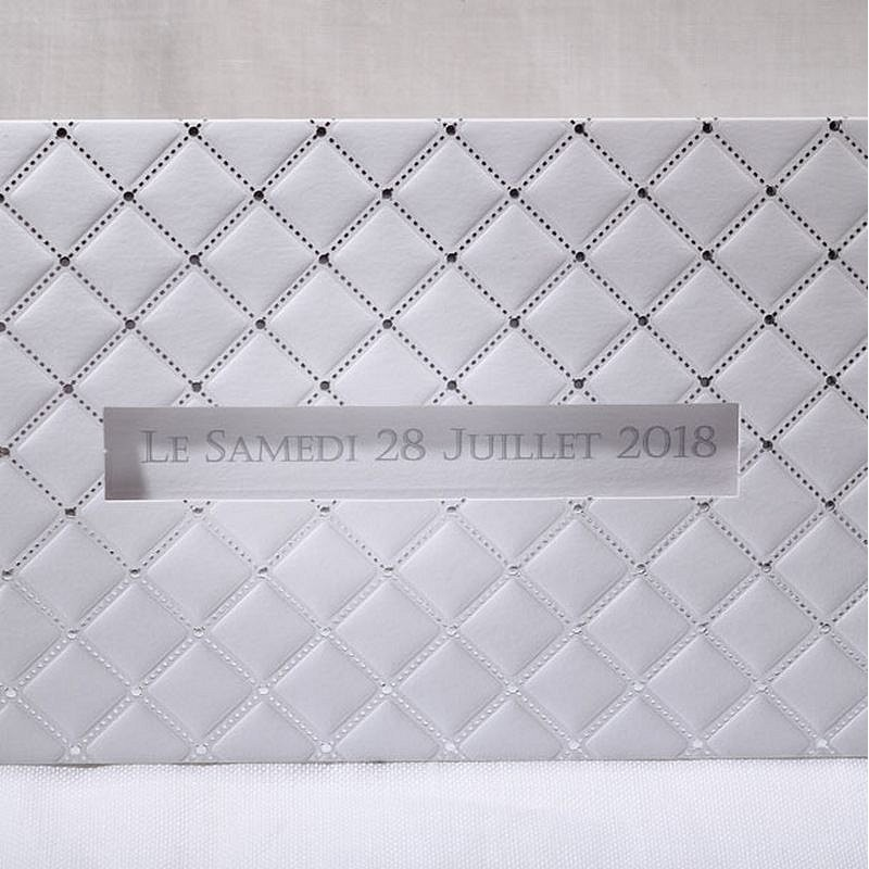 faire part mariage blanc argent coulissant chic faire part select duo 49507. Black Bedroom Furniture Sets. Home Design Ideas