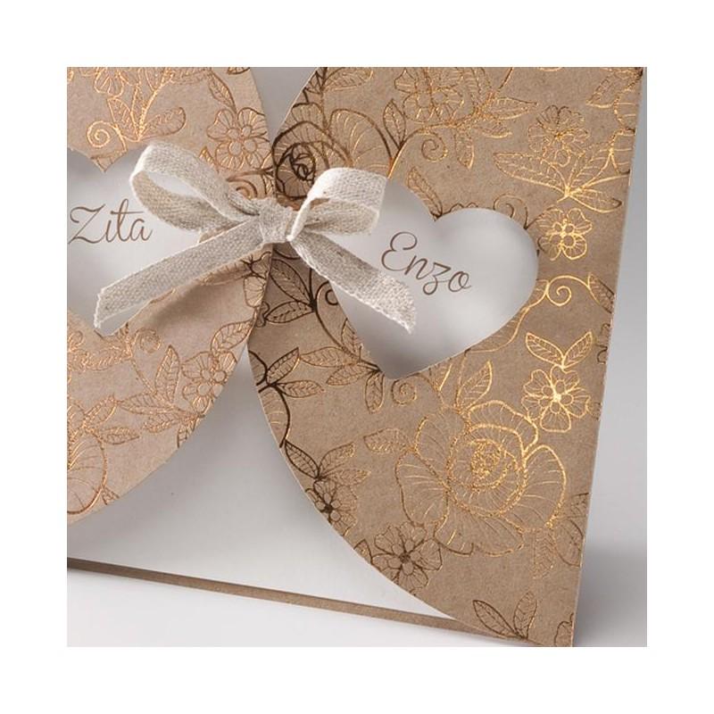 faire part mariage nature chic papier cologique dorure belarto bella 725085. Black Bedroom Furniture Sets. Home Design Ideas