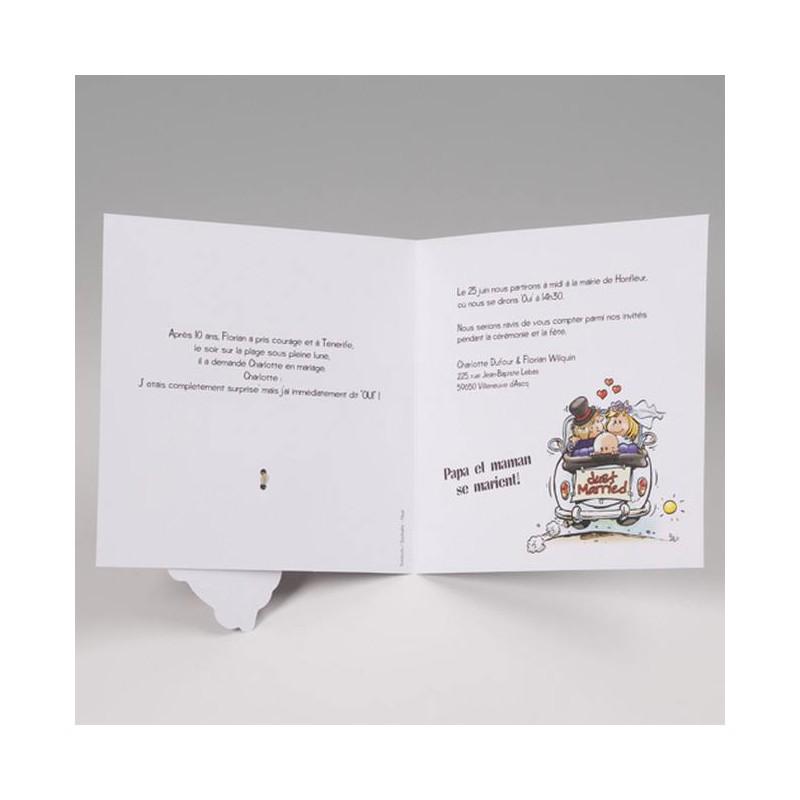 faire part mariage humoristique maris en voiture belarto bella 725903 - Texte Remerciement Mariage Drole