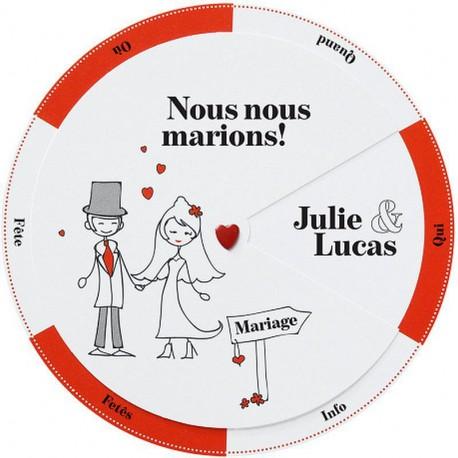 faire part mariage original humoristique blanc rouge gris belarto love 726005 w mesfairepart. Black Bedroom Furniture Sets. Home Design Ideas