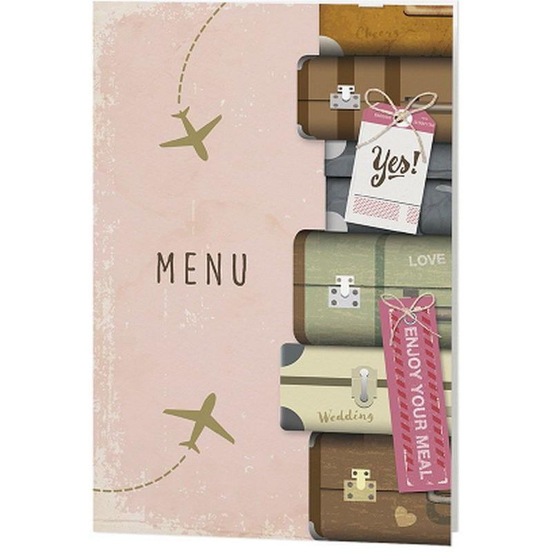 menu mariage original rose th me voyage belarto romantic 726613 01concept. Black Bedroom Furniture Sets. Home Design Ideas