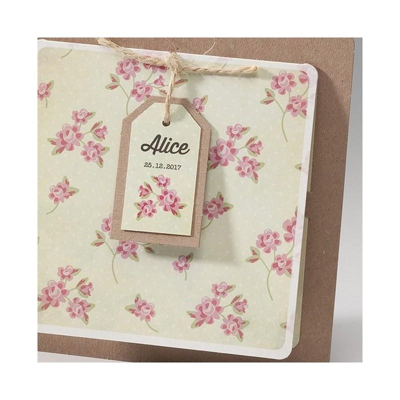 faire part naissance fille vintage fleurs belarto happy baby 715068 01concept. Black Bedroom Furniture Sets. Home Design Ideas