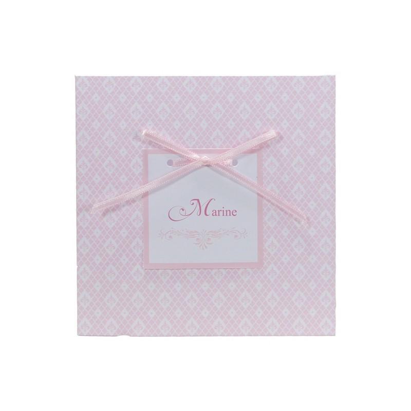 faire part naissance classique fille ruban rose regalb carrousel ch6200. Black Bedroom Furniture Sets. Home Design Ideas