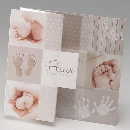 Faire-part de naissance vintage pieds main Belarto Baby Dreams 715096