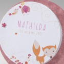 Faire-part naissance fantaisie disque animaux Belarto Happy Baby 715033