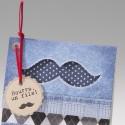 Faire-part naissance vintage garcon jean moustache  Belarto Happy Baby 715084