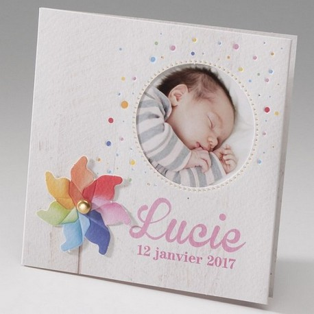 Faire-part naissance chic multicouleur photo  Belarto Happy Baby 715098