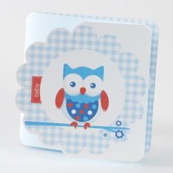 Faire-part de naissance garçon oiseau bleu Buromac Baby Folly 584.070