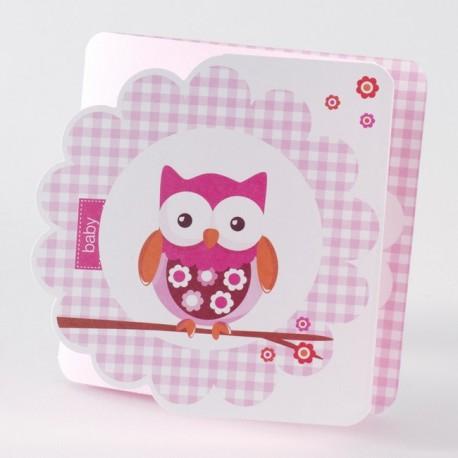 Faire-part de naissance fille rose oiseau Buromac Baby Folly 584.071