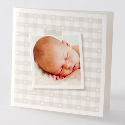 Faire-part de naissance fantaisie brun photo Buromac Baby Folly 584.090