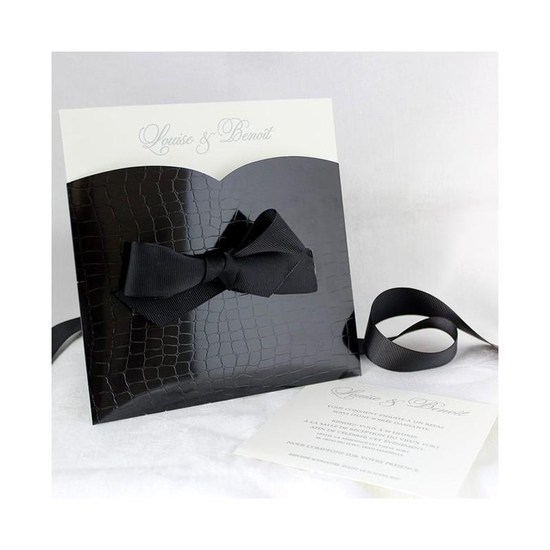 faire part mariage gay ruban noir faire part select tandem 49455 ruban noir. Black Bedroom Furniture Sets. Home Design Ideas