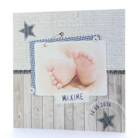 Faire-part de naissance vintage garcon pieds Belarto Baby Dreams 715926