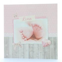 Faire-part de naissance vintage fille pieds Belarto Baby Dreams 715922