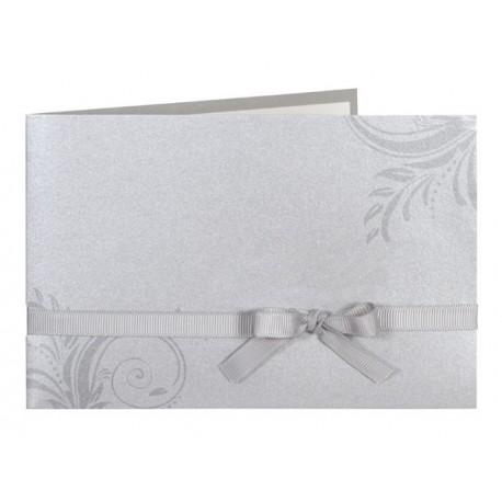 faire part de mariage chic gris arabesque ruban buromac la vie en rose. Black Bedroom Furniture Sets. Home Design Ideas