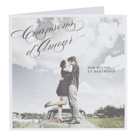 Faire part de mariage original pochette cd photo Buromac Papillons 104.068