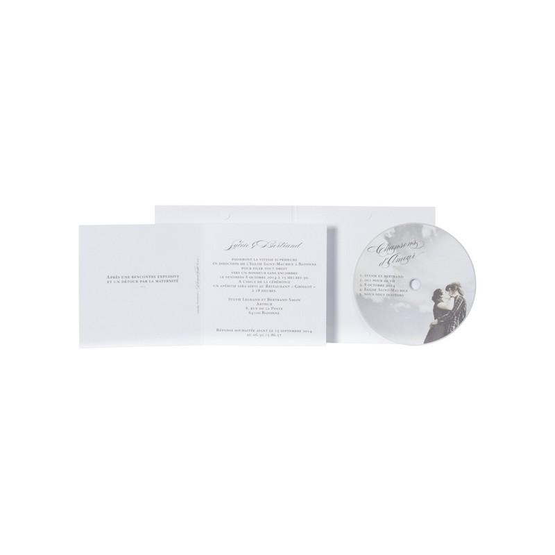 Extrêmement part de mariage original pochette cd photo Buromac Papillons 104.068 SF14