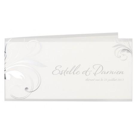 Faire-part de mariage fantaisie arabesques  Buromac La Vie en Rose 101.026