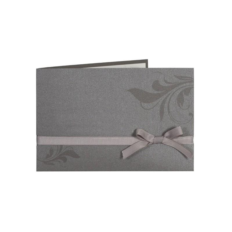 faire part de mariage classe gris arabesque ruban buromac. Black Bedroom Furniture Sets. Home Design Ideas