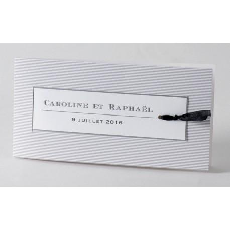 Faire-part de mariage vintage noir et blanc Buromac Papillons 105.008