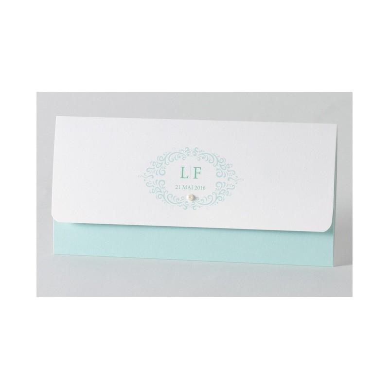 faire part de mariage chic turquoise perle buromac. Black Bedroom Furniture Sets. Home Design Ideas