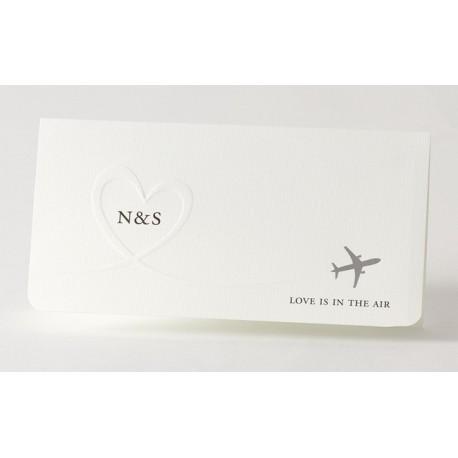 Faire-part de mariage fantaisie billet avion Buromac Papillons 105.025