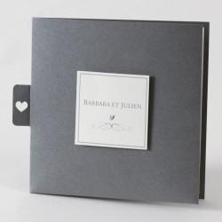 Faire-part de mariage chic gris gay Buromac Papillons 105.035
