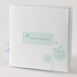 Faire-part de mariage tendance turquoise lesbien Buromac Papillons 105.038