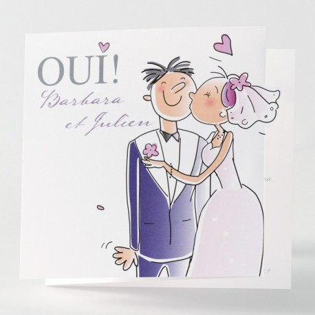 Faire-part de mariage humoristique couple pop up Buromac Papillons 105.063