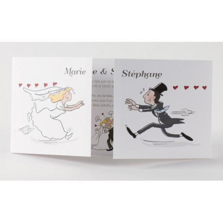 Faire-part de mariage humoristique couple Buromac Papillons 105.066