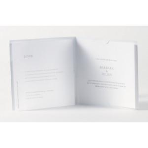 Faire-part de mariage chic blanc peau croco  Buromac Papillons 105.091