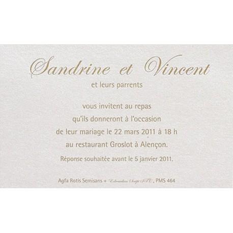 Carte lunch ou remerciement BUROMAC La Vie en Rose