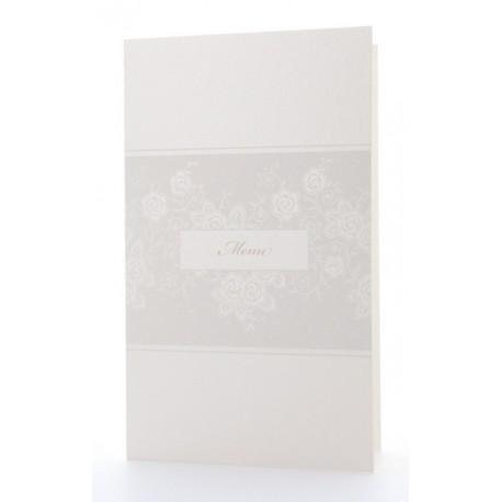 Menu mariage risée crème fleurs blanches BELARTO Celebate Love 725696