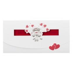 Faire part de mariage humoristique rouge voiture pochette Buromac la vie en rose 104.018