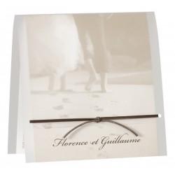 Faire part de mariage vintage couple mer sable Buromac la vie en rose 104.048