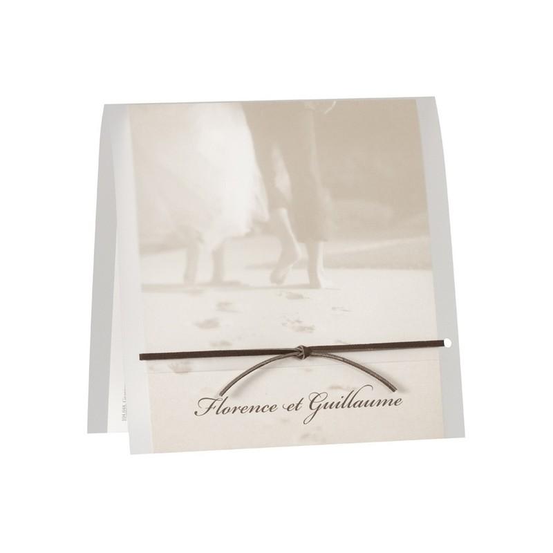 faire part de mariage vintage couple mer sable buromac la vie en rose. Black Bedroom Furniture Sets. Home Design Ideas
