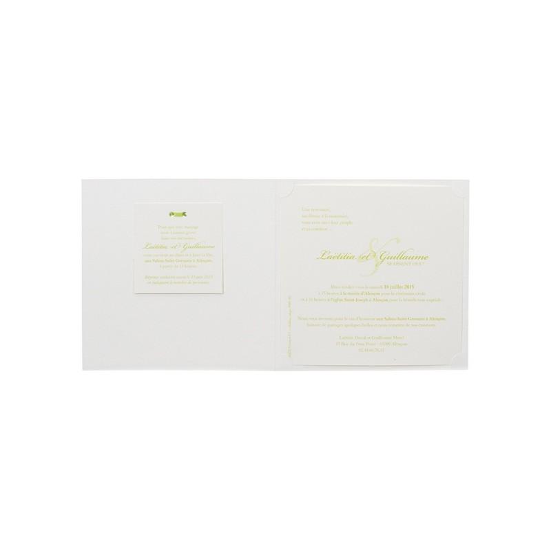 faire part de mariage chic nature feuille vert buromac 104079. Black Bedroom Furniture Sets. Home Design Ideas