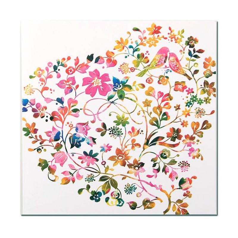 faire part de mariage nature oiseau multicolore busquet j3204015285. Black Bedroom Furniture Sets. Home Design Ideas