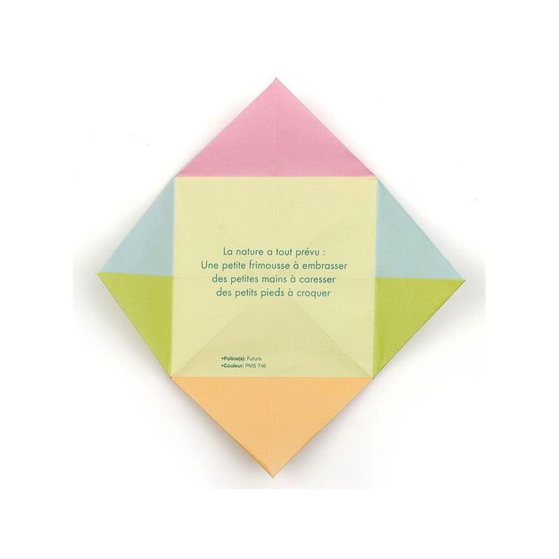 faire part de naissance original cube pli multicolore busquet 3102716347c. Black Bedroom Furniture Sets. Home Design Ideas