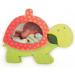 Faire-part de naissance 3D tortue verte photo Busquet 3106116305F